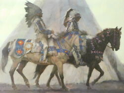 Kenneth Riley Blackfoot Chiefs S/n Framed Lithograph Print 305 Of 900
