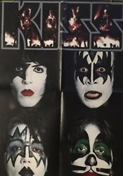 Kiss Vintage Poster K.i.s.s. Face Paint Profile Band Group 1980's Retro Promo Ad
