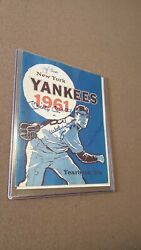 Vintage 1961 Yankees Yearbook Signed By Mantle And Others