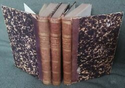 Antique Leather French History Books Rare 1857 Printing Achille Vaulabelle