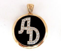 Black Onyx Natural Diamonds Necklace .52ct And Reversible