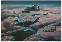 Night Hunters - art print by Anthony Saunders - Mosquito  Me262