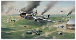 Scat Attack - Art Print By Jim Laurier - P-38 - Robin Olds