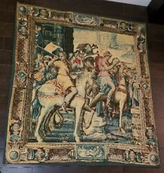French Tapestry Oriental Area Rug/carpet 3and03910 X 4and0392 Wall Hanging
