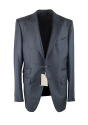 New Tom Ford Oand039connor Solid Blue Suit Size 52 It / 42r U.s.