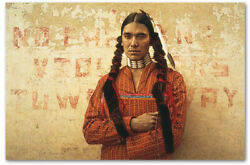 Contemporary Sioux Indian - By James Bama - Giclee On Canvas