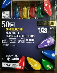 Home Accents 50-light Led C9 Multicolor 10x Ultra Bright Christmas String Lights