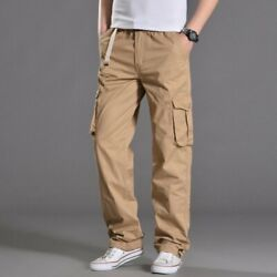 Men's Multi-pocket Trouser Cargo Military Tactical Camping Outdoor Pants Leisure