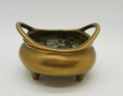 Antiques Ming Dynasty Bronze Incense Burner Chinese