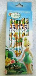 Disney Princess Tinkerbell Tinker Bell 10pc Different Colored Pencil Set-new