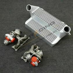 Fit For Bmw 335i 135i N54 Twin 16t Upgrade Turbosand7.5 Stepped Intercooler E82