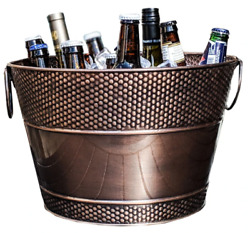 Pebbled Galvanized Ice Bucket for Beverages Copper Finish *B Grade* $20.00