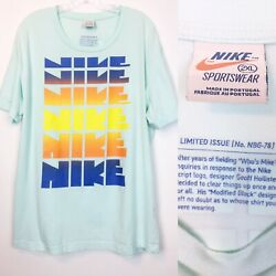 Rare Nike Limited Issue No. Nbg-78 Light Blue Block Neon Who's Mike Shirt Xxl