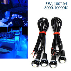 4x Blue Led Boat Light Waterproof 12v 100lm Deck Kayak Bow Trailer Marine Truck