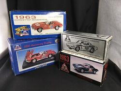 Vintage Big A Collectable Toy Corvettes And Display In Boxes 1993 Ertl
