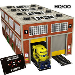Engine House For Diesel Engines W/motorized Working Doors Ho Scale See Video