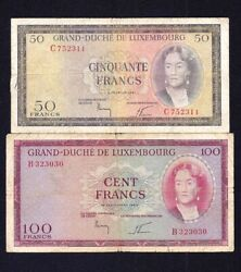 Luxembourg 50 + 100 Francs 1961 + 1963 P-51 +52