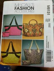 Patterns McCall#x27;s 6131 Bags Handbags Totes Open Uncut With Instructions $8.99