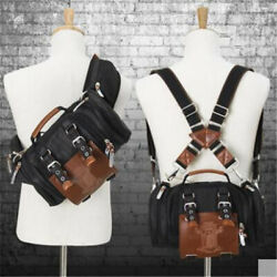 Attack On Titan Wings of Liberty Shoulder Backpack Stereo Motor Crossbody Bags