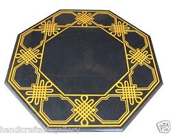 35 Black Marble Dining Table Top Hakik Inlay Stone Mosaic Art Home Decors H1395