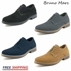 Bruno Marc Mens Casual Shoes Suede Lace up Wing Tip Oxford Shoes Dress Shoes $29.69