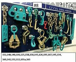 19 Piece Clamps And Tool Set Plus 6 Pulling Chains