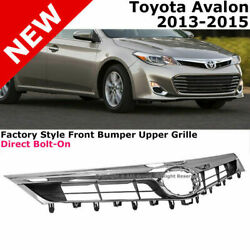 For 13-15 Toyota Avalon | No Pre-collision System Replacement Front Upper Grille