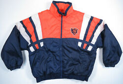 Nwot Chicago Bears Nfl Game Day Big Logo Quilted Insulated Puffer Coat Jacket Xl