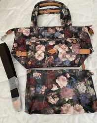 MZ WALLACE TOTE BAG FLORAL DESIGN