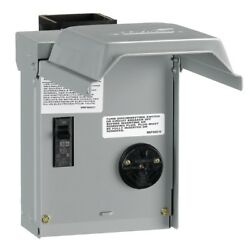 New Power Outlet With Breaker 30 Amp Temporary Rv Electrical Circuit Panel Box