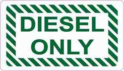 3.5x2 Diesel Only Magnet Vinyl Magnetic Truck Fuel Container Label Sign Magnets