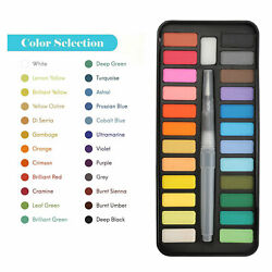 Professional 24 Colors Paint Tube Watercolor Draw Painting Brush Pigments Set