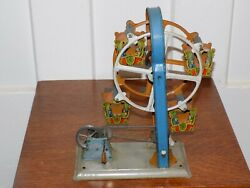 Centrimotor Tin Made In Germany Crank Toy Ferris Wheel