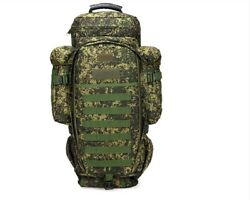 Tactical Army Military Camo 65l Trekking Survival Bug Out Bag Backpack Rucksack