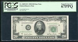 Fr. 2059-d 1950 20 Star Frn Cleveland Oh Pcgs Gem Unc-67ppq Finest Known