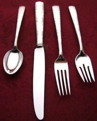 Camellia By Gorham Sterling Silver Individual 4 Pc Place Setting French Blade