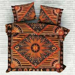 Indian Mandala Duvet Cover Set Donna Cover Bedding Throw With Pillow Sun N Moon