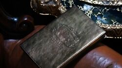 BURBERRY METALLIC BRONZE LEATHER COVER Notebook blank