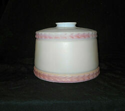 ANT. PASTEL PALE PINKSOFT CREAM GLASS DRUM LAMP LIGHT SHADE 2 1 4quot; FITTER Y1