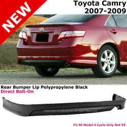For 07-09 Toyota Camry | Rear Bumper Lower Lip Spoiler Valance Se Style