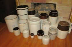 Antique Crocks Jugs-louisville-burley And Winter-uhl-marshall Free Shipping 1073