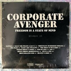 Advance Cd Freedom Is A State Of Mind [pa] By Corporate Avenger 2001 Rare Promo