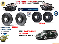 For Mini Cooper D Clubvan 12-14 Front And Rear Performance Brake Discs Set Pad Kit