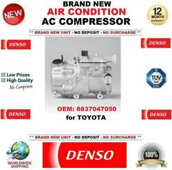 Denso Air Conditioning Ac Compressor Oem 8837047050 For Toyota Brand New Unit