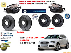 For Audi Q5 3.0 Tfsi 2012- Front And Rear Performance Brake Discs Set + Pads Kit