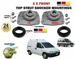 For Citroen Dispatch 1995 2 X Front Shocker Top Strut Mounting + Bearing Kit