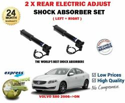 For Volvo S80 124 2006 New 2 X Rear Electronic Adjust Shock Absorber Set