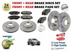 For Ssangyong Kyron Abs 2.0dt 2006 Front And Rear Brake Discs Set + Disc Pads Kit