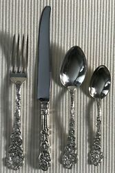 Gorham Versailles Sterling 4 Piece Place Setting S Dinner Size