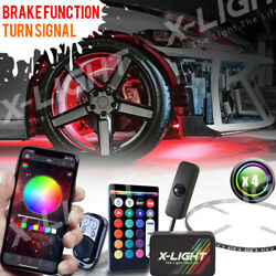 17 Wheel Ring Light Kit Bluetooth App Controlled W/turn Signal And Brake Function
